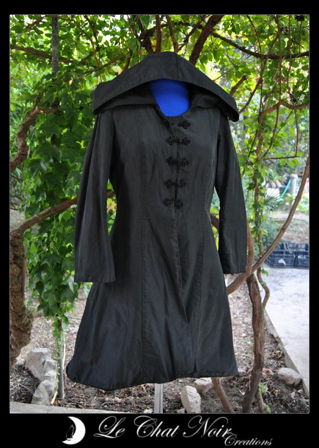 Black Taffetas Elf Jacket_I by LeChatNoirCreations