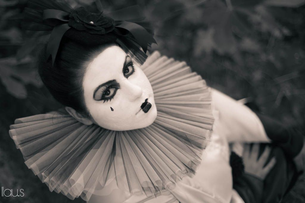 Pierrot The Clown III by LeChatNoirCreations