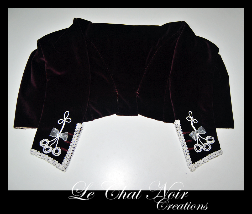 Burgundy Velvet Jacket by LeChatNoirCreations