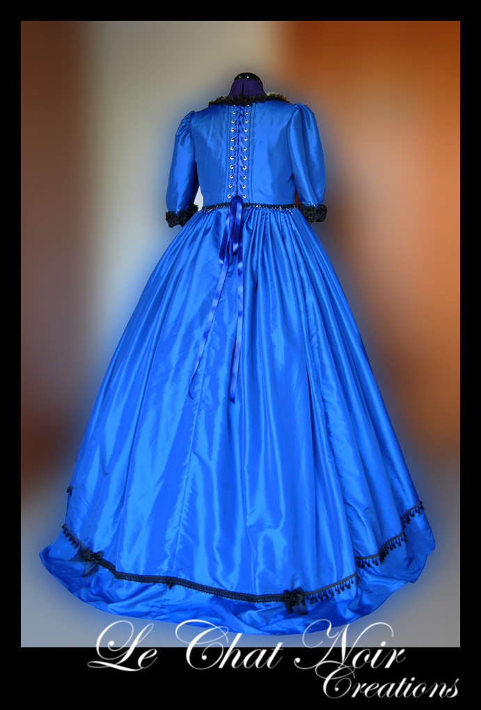 Blue Victorian Dress_I by LeChatNoirCreations