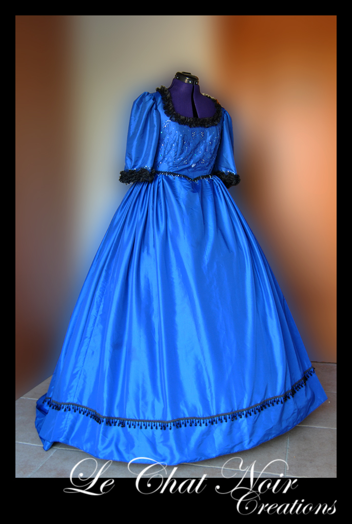 Blue Victorian Dress_II by LeChatNoirCreations