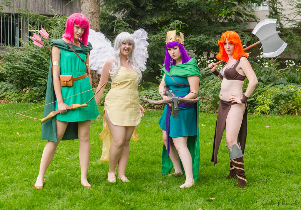 Clash of Clans Cosplay: The Ladies! by bestfriendscosplay