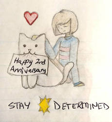 Happy 2nd Anniversary Undertale by Gleae
