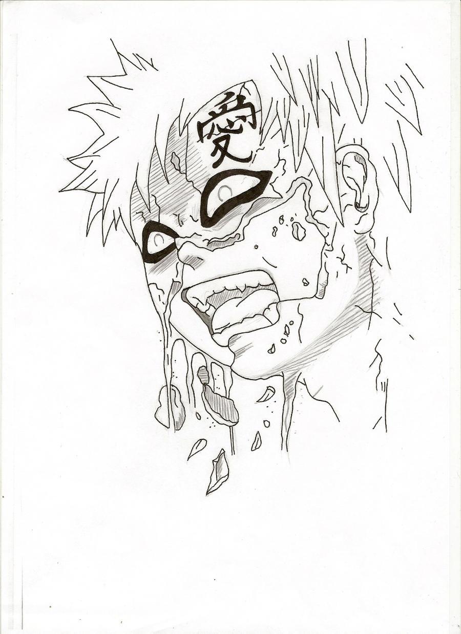gaara drawings in pencil - photo #25