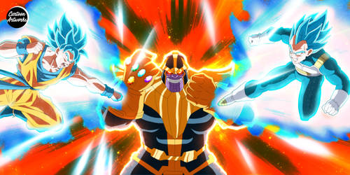 THANOS vs Goku and Vegeta = COMMISSION 22