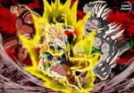 Saiyan OC vs Juggernaut + Doomsday = COMMISSION 39 by CartoonArtworks