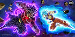 Saiyan OC vs Dark Broly SS4 = COMMISSION 61 by CartoonArtworks