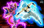 Gogeta Blue vs Janemba GOD = COMMISSION 62 by CartoonArtworks