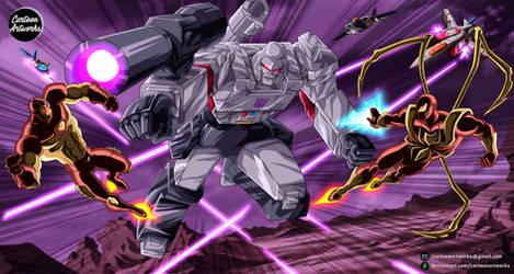 MEGATRON vs Iron Man + Iron Spider = COMMISSION