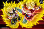 2 OCs Fight: Callion vs Daikon = COMMISSION by CartoonArtworks