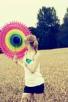 big colorful fan