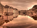 Sepian Alesund HDR by Charon1