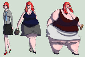 123 Weight Gain Sketch by ExtraBaggageClaim