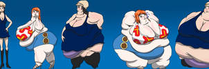 Nami and Robin 123 Weight Gain Sequence by ExtraBaggageClaim