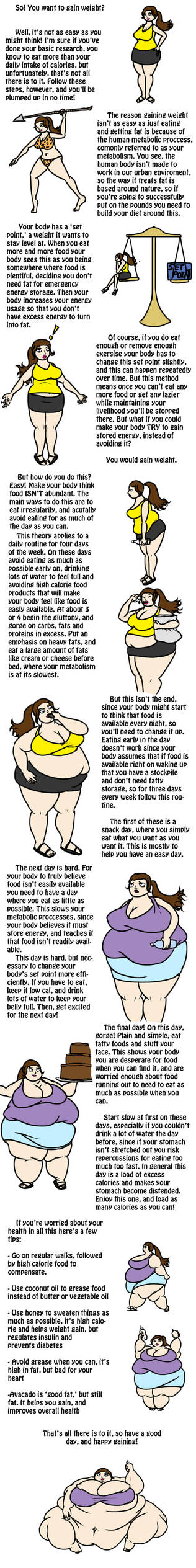 How to Gain Weight by ExtraBaggageClaim on DeviantArt
