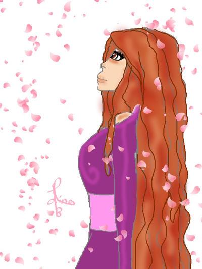 sakura sana anime girl by sakuralino