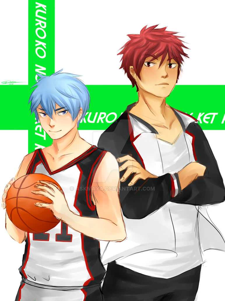 Kuroko and Kagami by askmaya