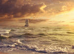 Sunset Sail by FictionChick