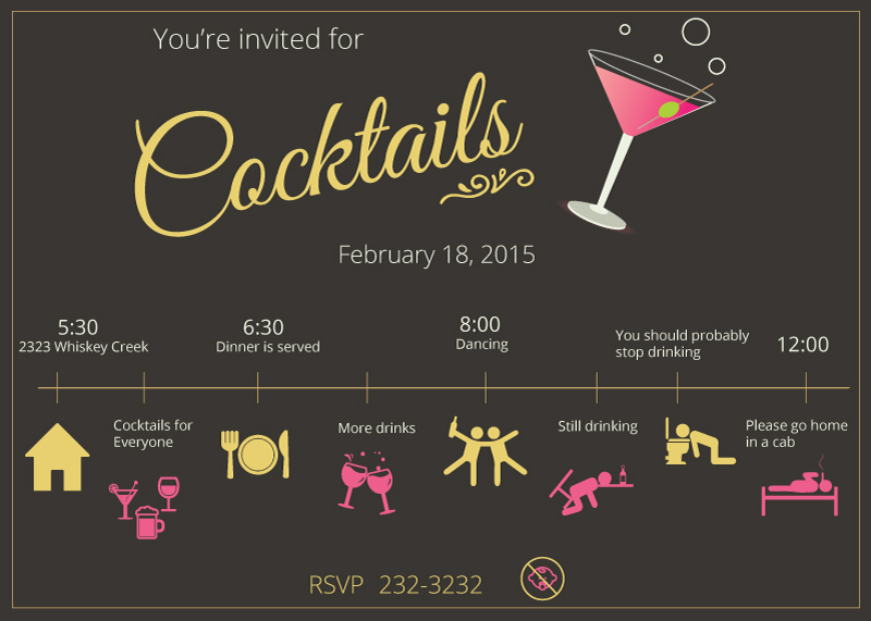 Cocktail Party Invite by FictionChick