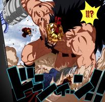 One Piece_Lucy VS Hajrudin by AnimeFanNo1