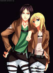 Snk Christa And Ymir