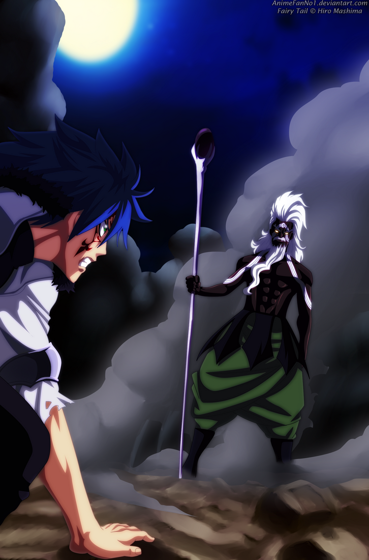 Fairy Tail chapter 507 _ Jellal VS August by AnimeFanNo1 on DeviantArt