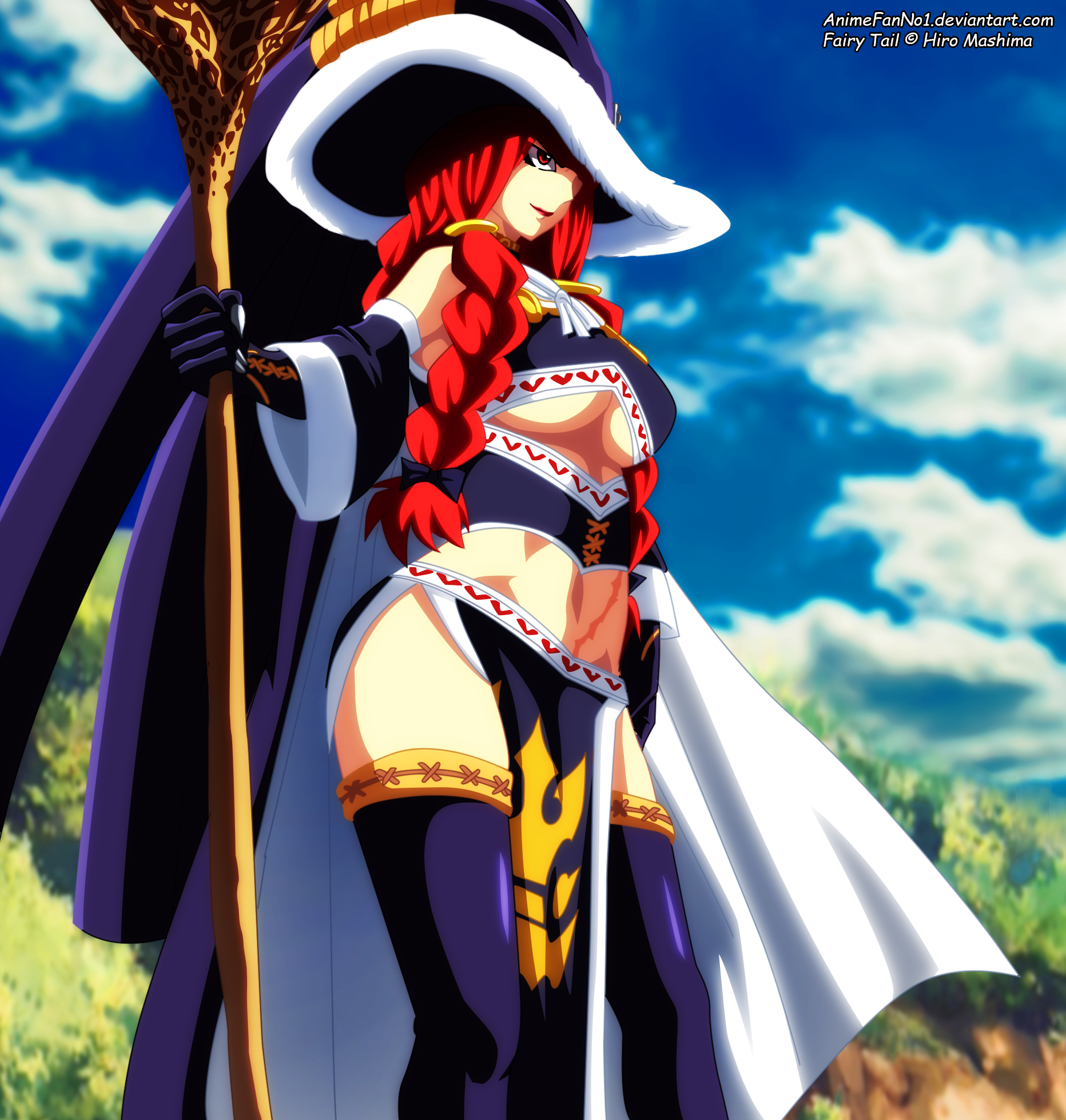 fairy tail eileen confronts erza by animefanno1 on
