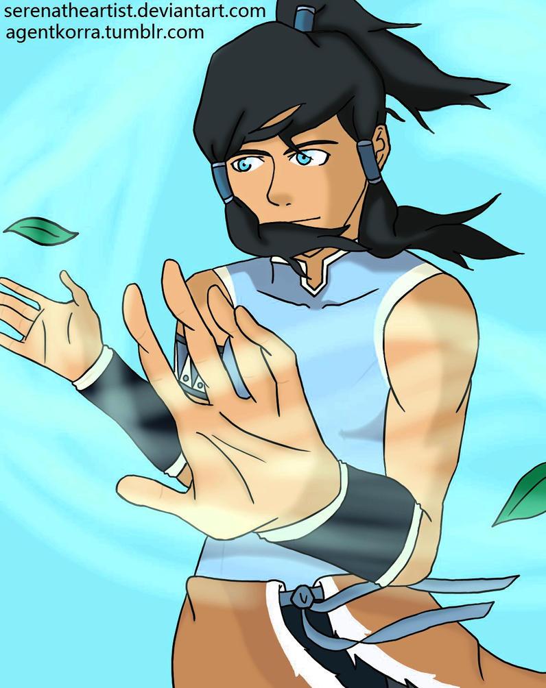 Avatar Korra Airbending by SerenatheArtist