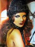 chalk pastel woman