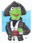 Kermit as Captain Smollett
