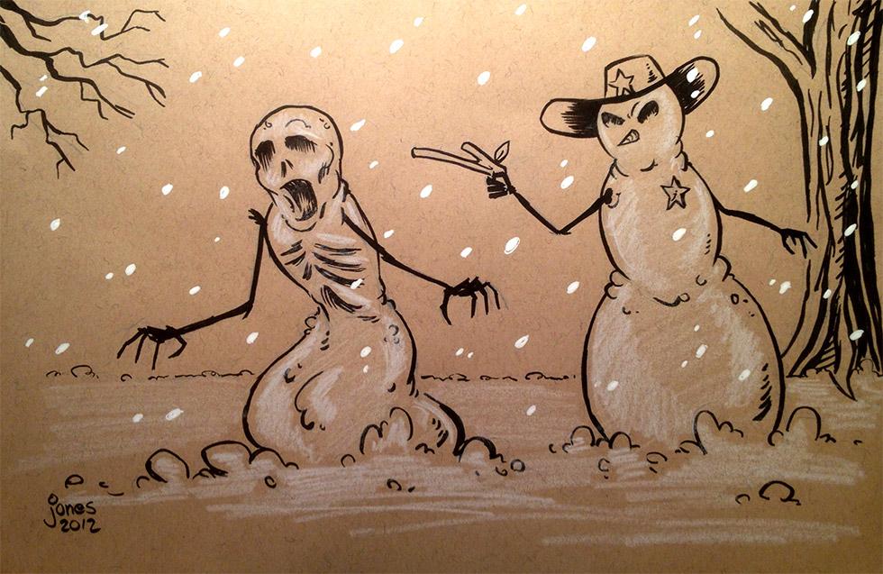 Sketchbook: Walking Dead Snowmen by AtlantaJones