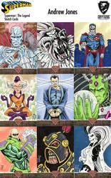 Superman: The Legend preview cards by AtlantaJones