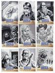 Walking Dead Sketch Cards: 35-43