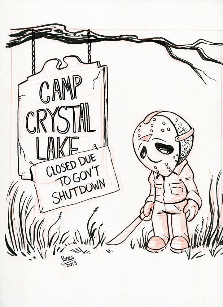 Inktober 3: Li'l Jason by AtlantaJones