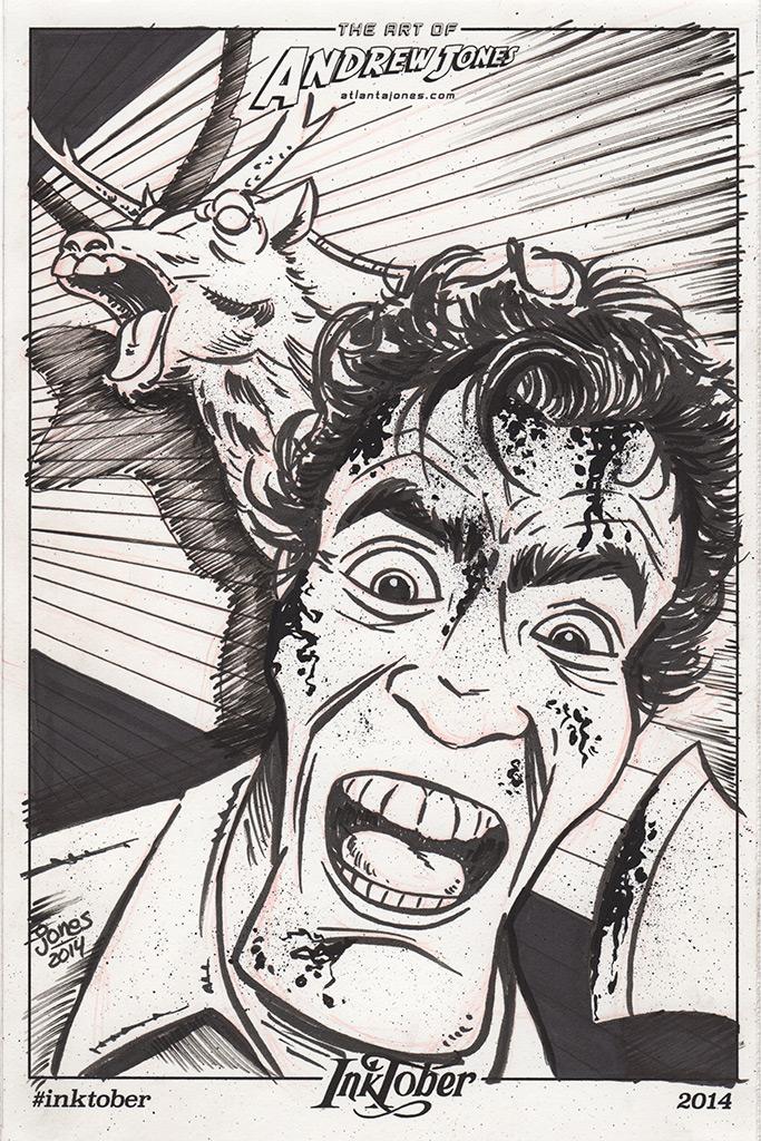 Inktober Day 5: Evil Dead by AtlantaJones