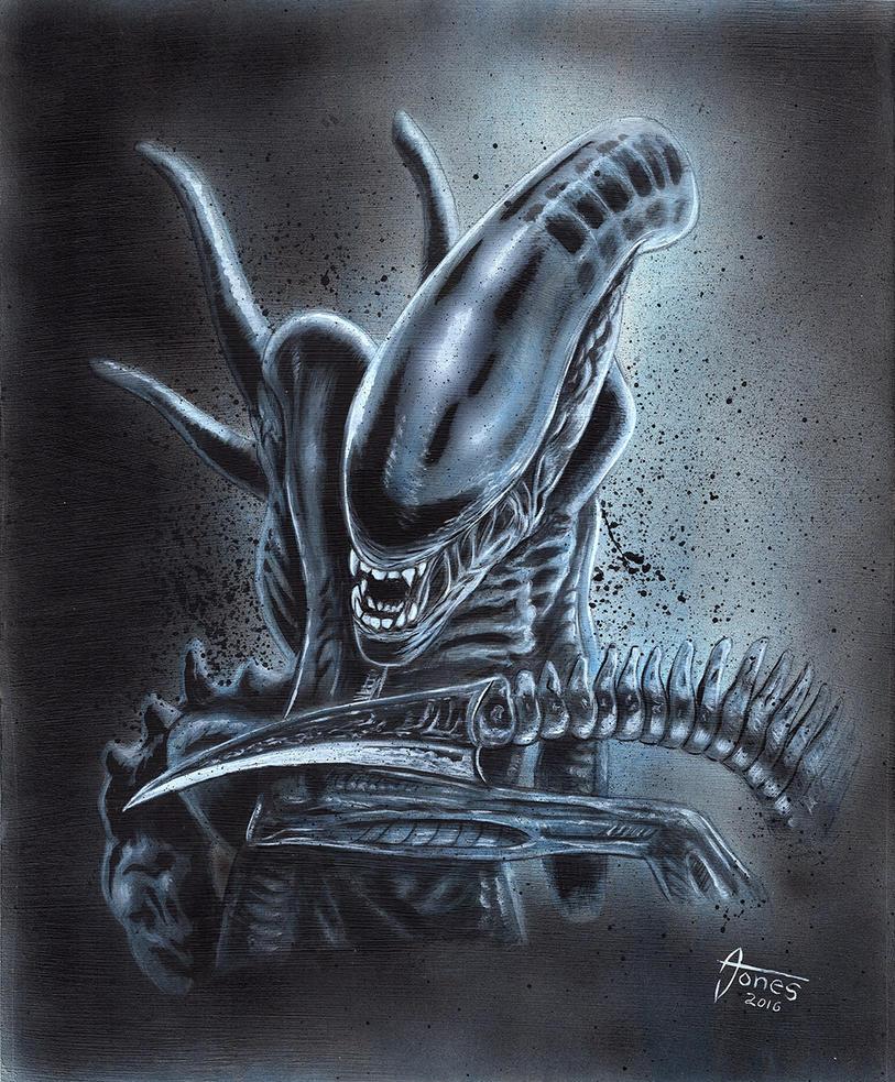 Alien Xenomorph Illustration by AtlantaJones