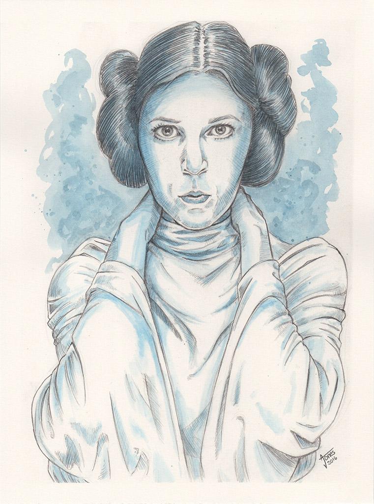 Carrie Fisher as Princess Leia by AtlantaJones
