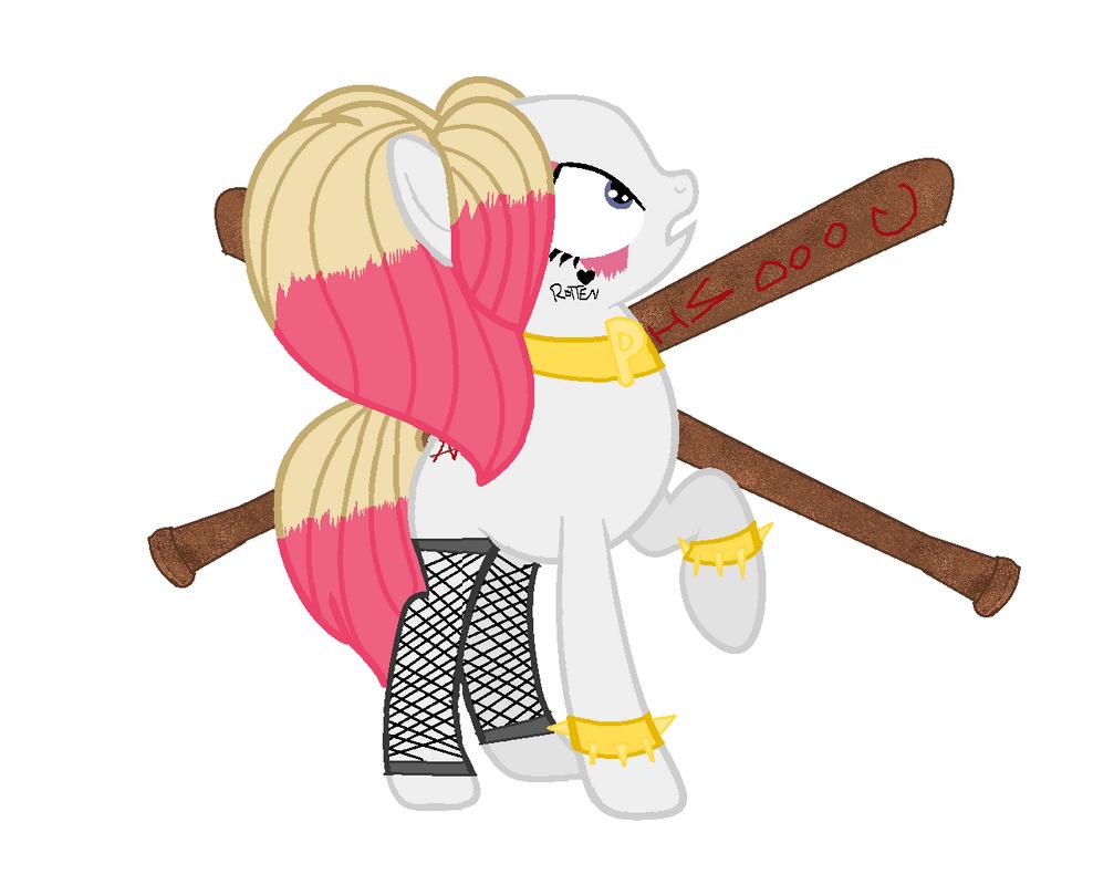 Mlp Harley Quinn by pikamikashu