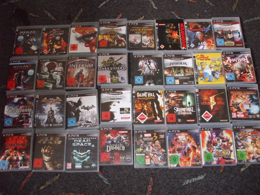 My Ps3 Games Collection by Dantefreak on DeviantArt