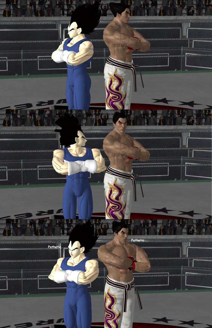 Kazuya meets Vegeta by Dante-564