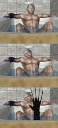 Scary Comics S4/Request: Nero meets Freddy Krueger by Dante-564