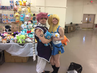 Natsu and Lucy Cosplayers