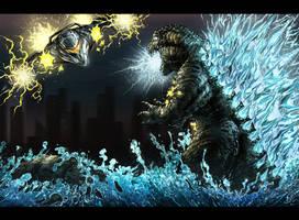 Godzilla Vs Garuda by KaijuDuke