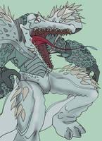 Hyper Zoanoid Xenosuchus by KaijuDuke