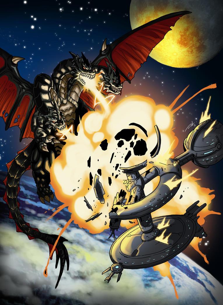 Beware of Space Dragons by KaijuDuke
