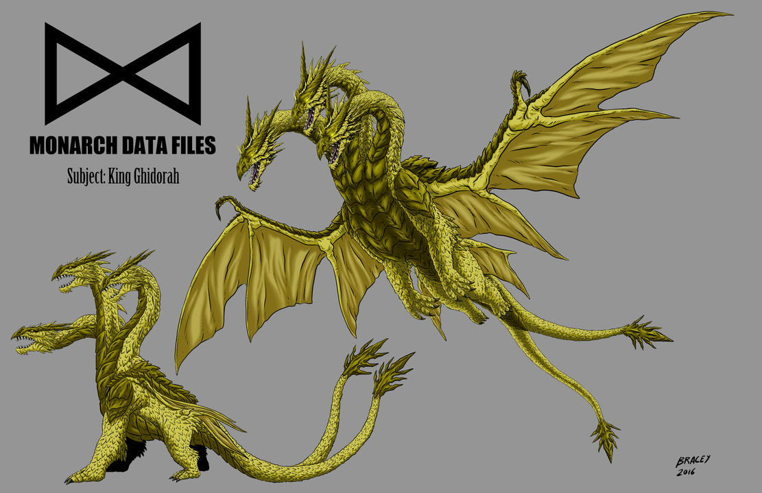 Monarch Data Files: King Ghidorah by KaijuDuke on DeviantArt