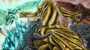 Battling For Dominance by KaijuDuke