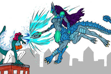 When Fanart Collides by KaijuDuke