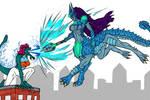 When Fanart Collides by KaijuDuke