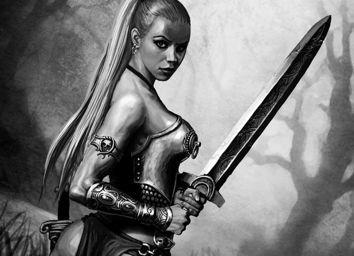 barbarian girl by Perun-Tworek